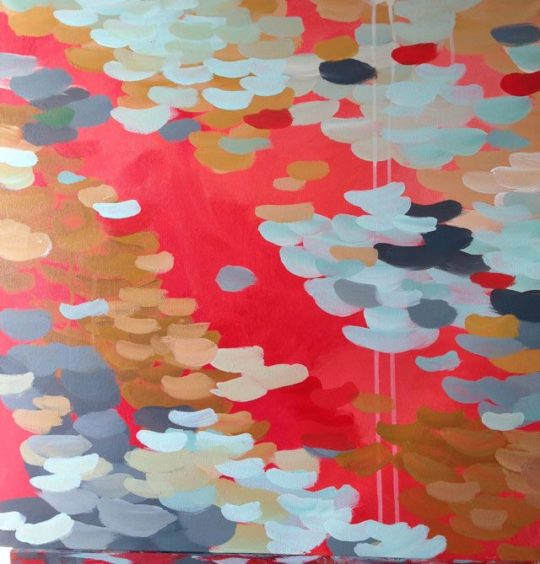 Pintura abstracta One Way 60x60cm