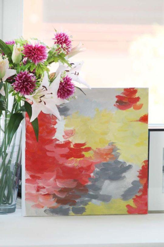 Calorazo obra abstracta 40x40 elena calonje