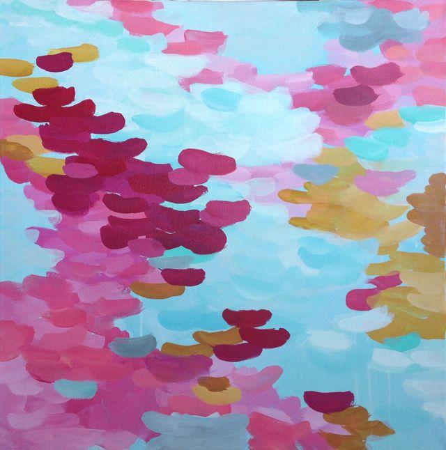 Obra abstracta Happy 50x50cm de Elena Calonje