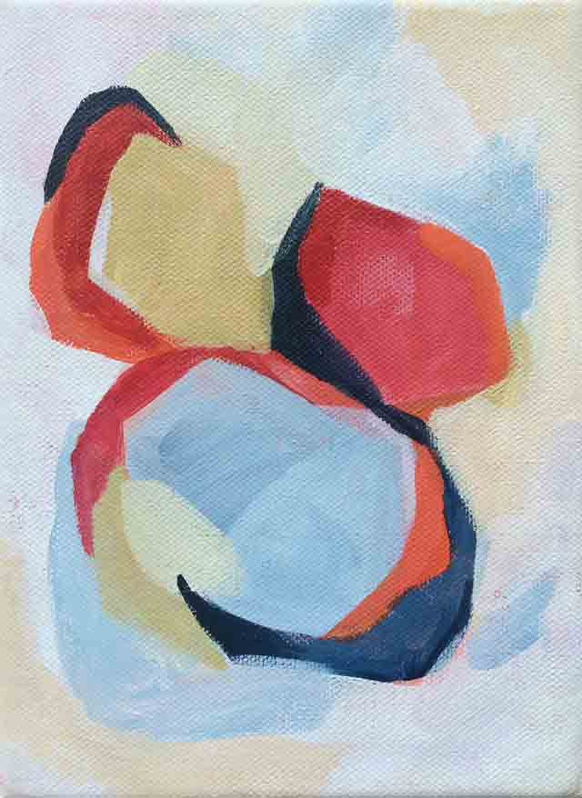 Gem 6, acrílico sobre lienzo, 10x15cm, pintura de Elena Calonje