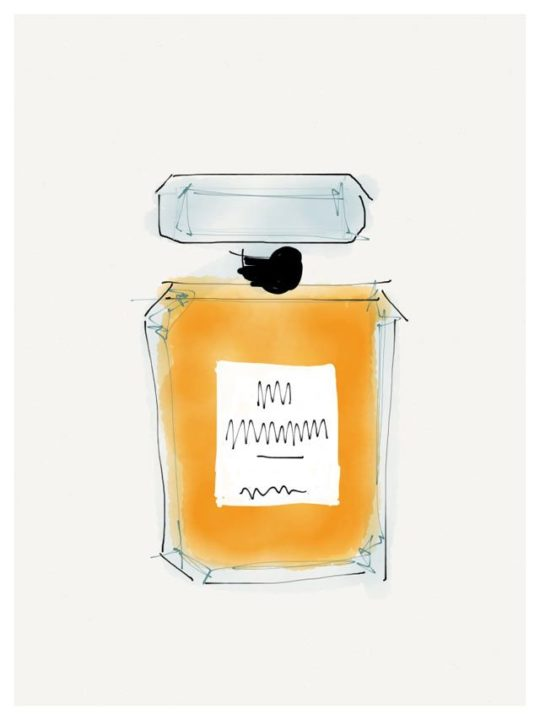 Lámina Perfume 2 de Elena Calonje. Serie Beauty