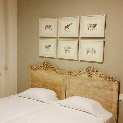 Animal Illustration Headboard By elena Calonje