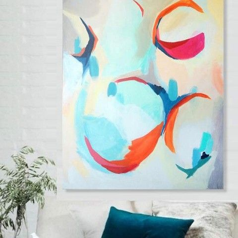 Show me emotion abstract painting by Elenar Calonje