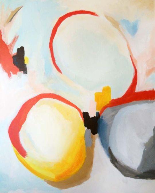 Wiggle, acrílico sobre lienzo, 80x100cm, pintura de Elena Calonje