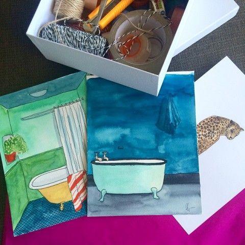 some original watercolors by elena calonje
