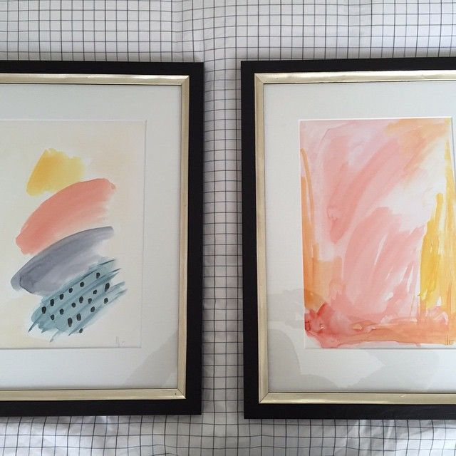 abstract watercolors framed Elena Calonje
