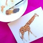giraffe watercolor by elena calonje