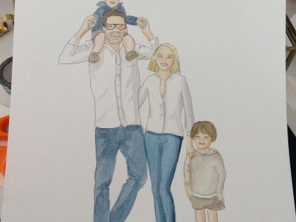 Family Illustration on Commission